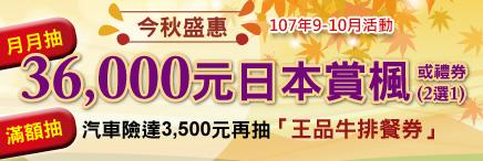 夏拼go 月月抽 iphoneX或420000百貨禮券